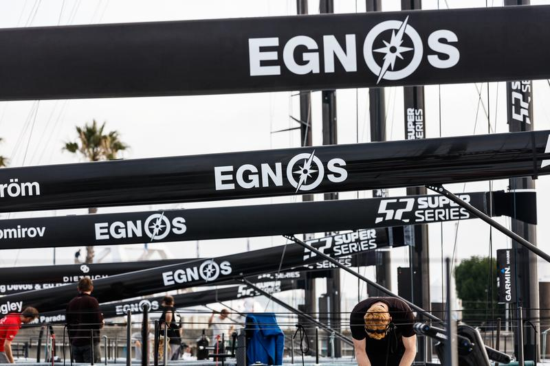 EGNOS logo on boats at SUPER SERIES 52
