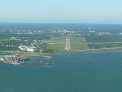 Runway at Tallinn Airport