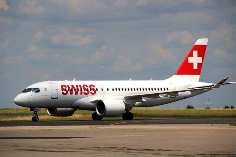 Swiss Maiden Flight Aircraft