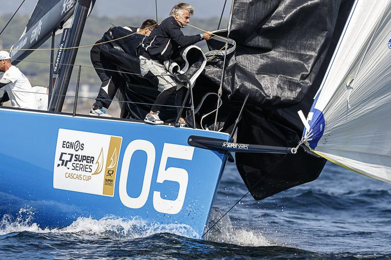 Boat sailing at the EGNOS SUPER SERIES 52 Cascais Cup