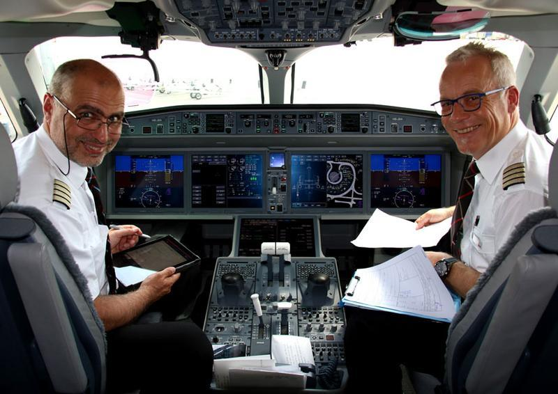 Swiss Maiden Flight Cabin